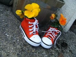 Flower Boots by FueledByParaic