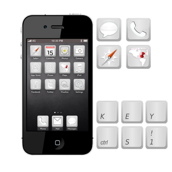 Keyboard Theme iPhone 4 by xcel360