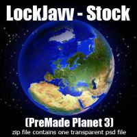 Planet Three PSD by LockJavv-Stock