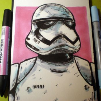 INKtober - The Force Awakens by Cosmic-Rocket-Man