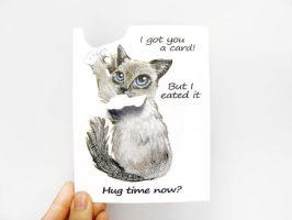 Got You A Card But I Eated It - Hug Time Now by sobeyondthis