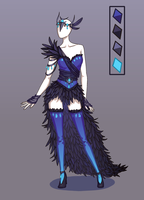 CLOSED Outfit adoptable auction ~ Raven lady by Ayleidians