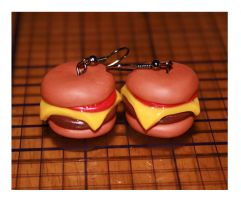Cheeseburger Earrings by bettenoir87