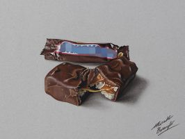 Snikers bar DRAWING by Marcello Barenghi by marcellobarenghi