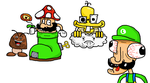Cracked up Super Mario Bros by Gamebit64