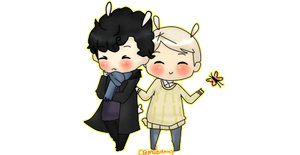 Johnlock Cheeb~ by Cremebunny