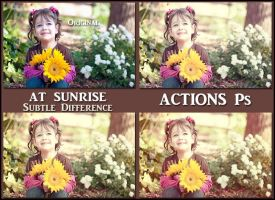 At sunrise ACTIONS Ps  by Tetelle-passion