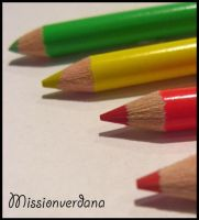 Coloured Pencils by missionverdana