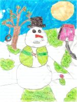 Spring Snowman by coolemyasi