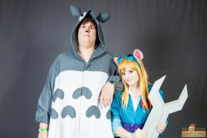Gadget and Totoro ^^ by Razhik