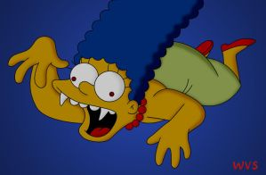 Vampire Marge by WVS1777