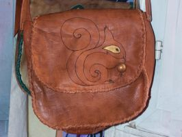 squirrel leather bag by funkydpression