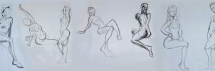 Life Drawing - October 2014 by Gizmoatwork