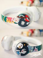 Nightosphere Adventure Time Headphones by DablurArt