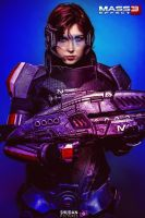 Mass Effect 3 Shepard by ShashinKaihi