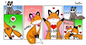 StupidFox in love by xcry