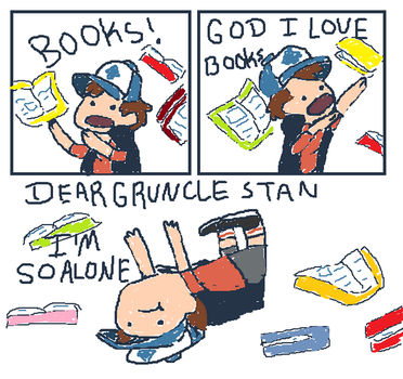 dipper gets all the books by agreenflower