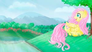 Fluttershy. Beautiful day by Yutel-Chan