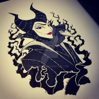Maleficent Ink by Redhead-K