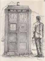 The Doctor and his Tardis by OctopusTimelord