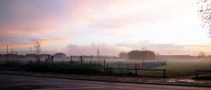 Misty Park in the Morning by TheBigDaveC