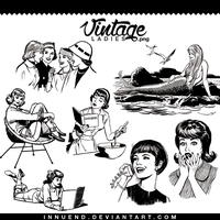 Vintage ladies png pack by Innuend