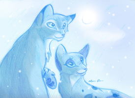 Clear Sky, Gentle Snowfall by Sky-Lily