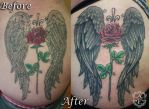 Rose with Wings Re-Work Tattoo by seanspoison