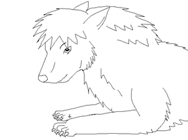 Wolf Lineart 1 by SwedenGirl