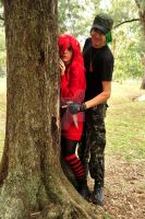 HTF Cosplay - In the forest. FlippyxFlaky close up by Paper-Doll89