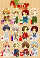 Hetalia Charms by betrayal-and-wisdom