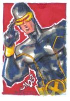 Personal Sketch Card CYCLOPS by jasinmartin