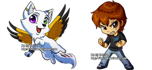 Commision -SP and Alueus Chibi by Ferisae