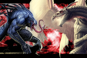 Venom vs Dragon V.3 by ChrisHateZ