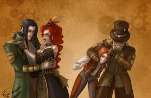 Steampunkery commission by Destinyfall