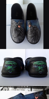Commission - Batman Forever Shoes by GinnyMilling