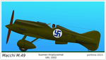 Macchi M.49 fighter - Finnish Air Force by perttime