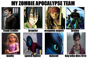 My Zombie Apocalypse Team by RunawayComics