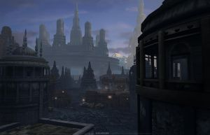 Morning Dawn over down town by JaikArt