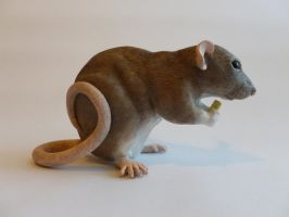 Eating Dumbo Rat Sculpture alt angle by philosophyfox