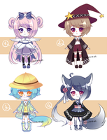 [ADOPT 115-118][AUCTION][OPEN-AB ADD] RANDOM PEEPS by tomiden