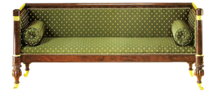 vintage green couch by jinifur