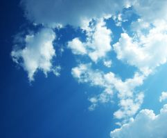 blue white clouds by erykucciola-sToCk
