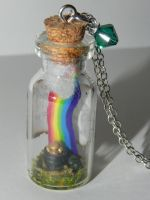 Pot of Gold, Rainbow, Four Leaf Clover, Shamrock, by Secretvixen