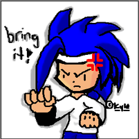pissed Sonic by Kyle-the-hedgehog