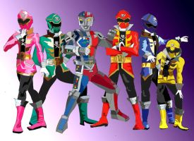 Ryan Steele and the Gokaiger by LavenderRanger