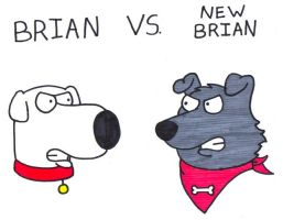 Brian vs. New Brian by BrianGriffinFan