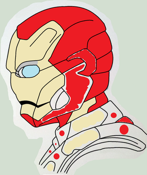 ironman 3 helemt profile W.I.P by pantherboy