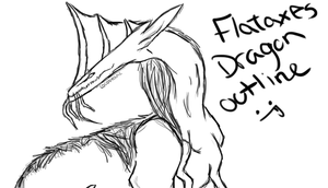 Flataxes Dragon outline by cocobeanc
