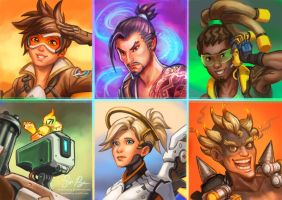 Overwatch Portraits by Risachantag